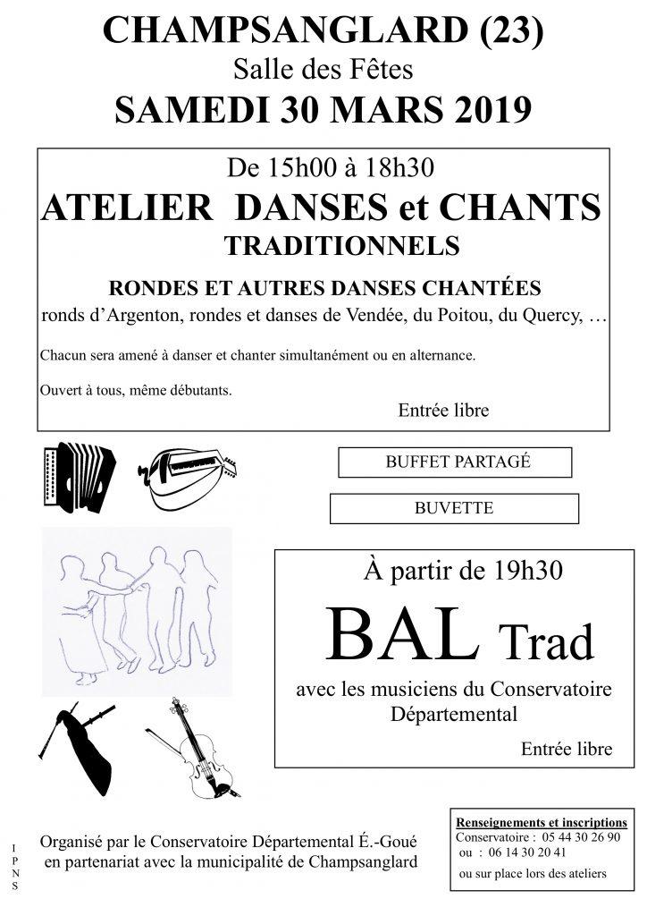 affiche atelier  danse et bal Champsanglard