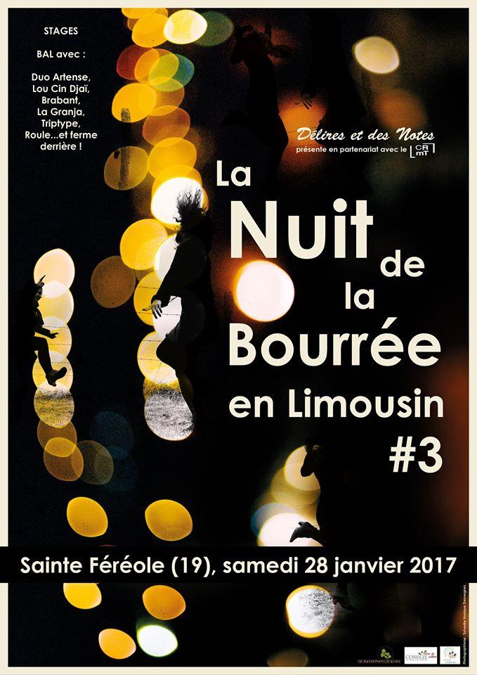 Visuel de La Nuit de la bourrée en Limousin 2017