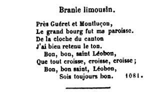 Image 1 bis - Branle limousin (paroles - du Caveau)