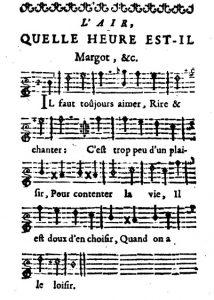 07 - Quelle heure est-il 1 (clé chansonniers II-154)