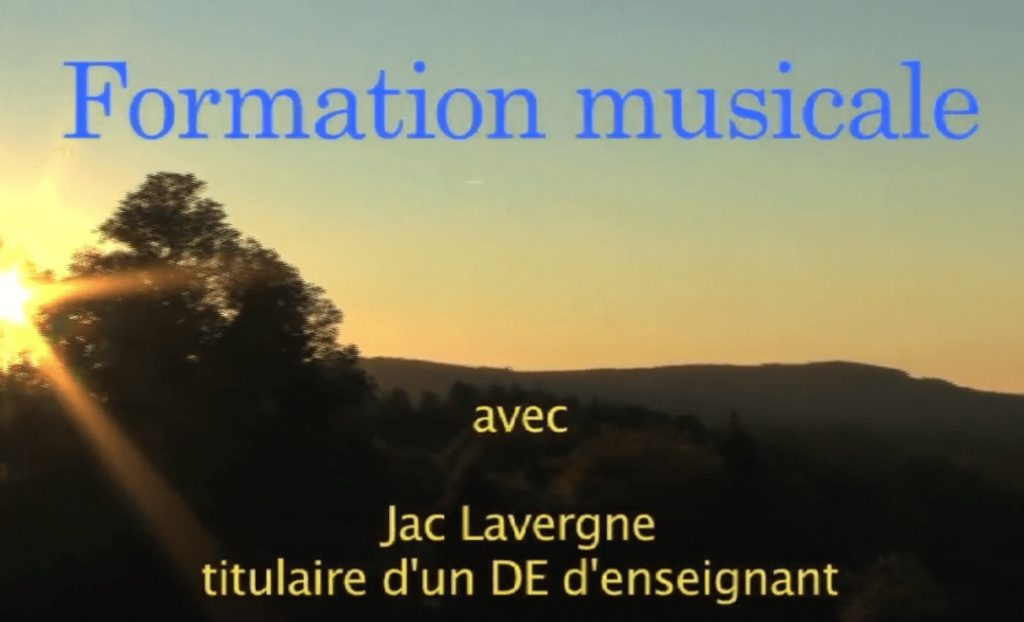 Formation musicale JL