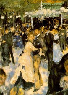 Auguste Renoir Bal du moulin de la Galette (détail)
